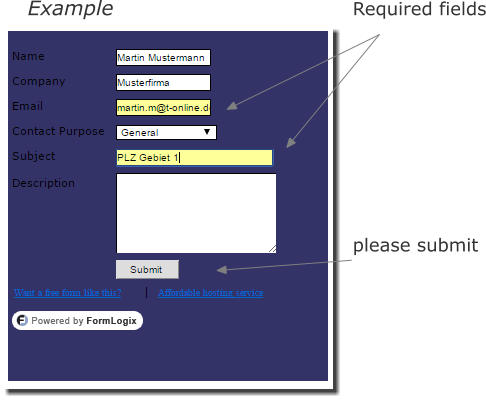 Example Required fields         please submit
